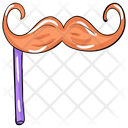 Hipster Moustache Mask Party Props Icon