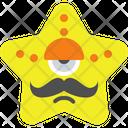 Moustache Star Icon