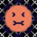 Mouth Full Coronavirus Emoji Coronavirus Icon