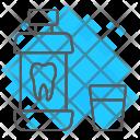 Mouthwash Bottle Health Icon