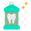Mouthwash Toothbrush Healthcare Icon