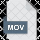 Mov Video File Format Icon