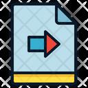 File Move Arrow Icon