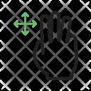 Three Fingers Move Icon