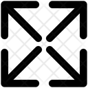 Arrow Four Directions Corner Icon