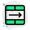 Move Cell Interface Essentials Table Green F Icon
