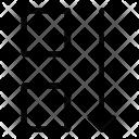 Move Square Down Icon
