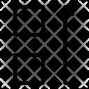 Move Square Up Icon