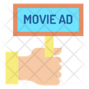 Hand Ad Board Movie Advertising Advertising Board Icon