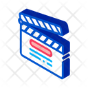 Clapper Board Numbering Icon