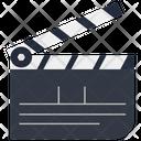 Movie Clapper Open Icon