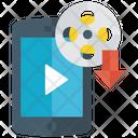 Movie Downloading Video Downloading Downloading Icon