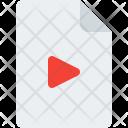 Movie File Video Icon