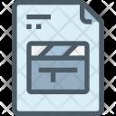 Movie File Clapperboard Icon