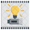 Main Idea Entertainment Clapperboard Film Movie Icon
