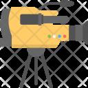 Movie Camera Shooting Icon