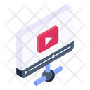 Video Network Shared Video Network Video Streaming Icon