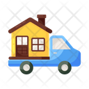 House Mover Moving Estate Home Shifting Icon