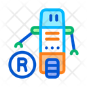 Moving Robot Cyber Icon