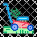 Lawn Mower Machine Icon