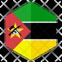 Mozambique Flag Hexagon Icon