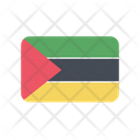 Mozambique Flag Country Icon