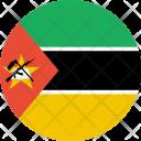 Mozambique Flag World Icon