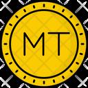 Mozambique Metical Coin Money Icon