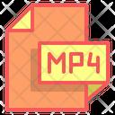 Mp 4 Video File Format Icon