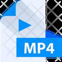 Mp 4 File Mp 4 File Format Icon
