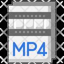 Mp 4 File Mp 4 Extension Icon