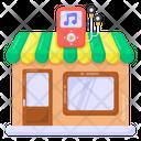 Music Shop Mp 3 Shop Mp 3 Retailer Shop Icon