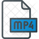 Mp 4 Film Video Icon