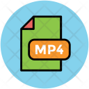 Mp 4 File Music Icon