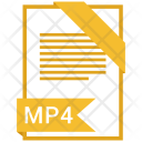 Mp 4 Format Document Icon