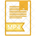 Mp 4 Document File Icon