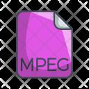Mpeg Video File Icon
