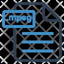 Mpeg File Sheet Icon