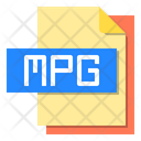 Mpg File File Type Icon