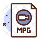 Mpg File Mpg Document File Icon