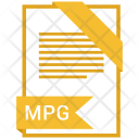 Mpg Format Document Icon