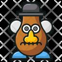 Mr Potato Toy Character Icon