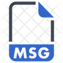 Msg Document File Icon