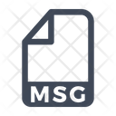 Msg File Document Icon