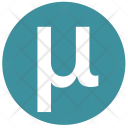 Mu Alphabet Greek Icon