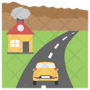 Natural Disaster Road Disaster Volcanoes Icon