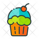 Muffin Muffin With Cherry Cupcake Icon