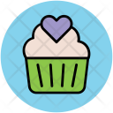 Muffin Heart Cupcake Icon