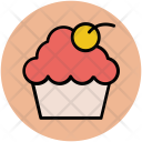 Muffin Cherry Cupcake Icon