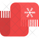 Muffler With Snowflake Accessory Cowl Icon